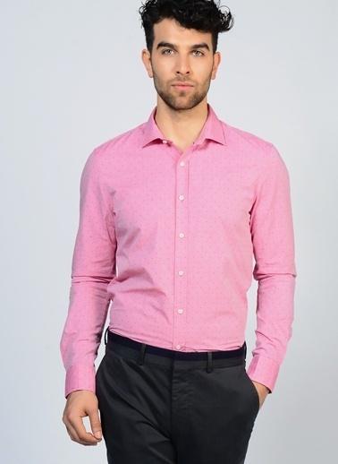 Penford Uzun Kollu Puantiyeli Gömlek Pembe